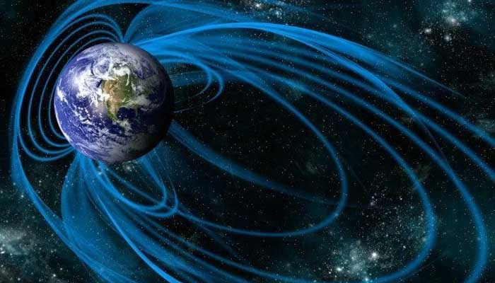 Anomaly in earth magnetic field