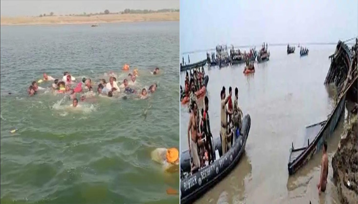 Boat overturned in Chambal river
