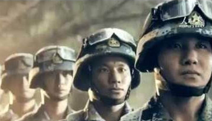 Chinese army propaganda video scenes copied from hollywood movies attacking US
