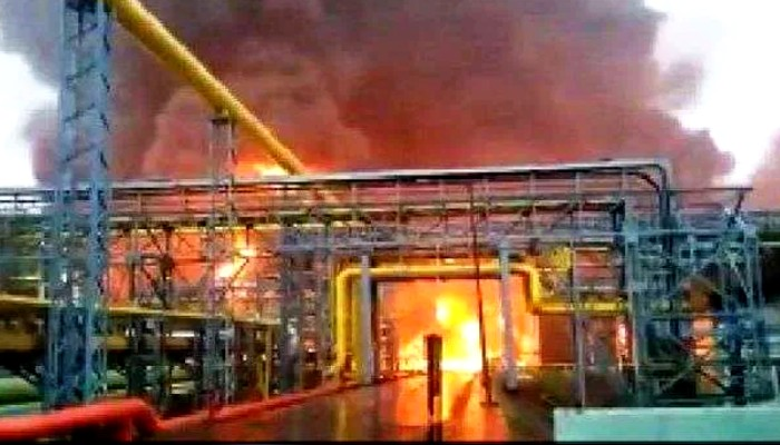 Gujarat Massive fire breaks out at ONGC Surat plant after 3 blasts