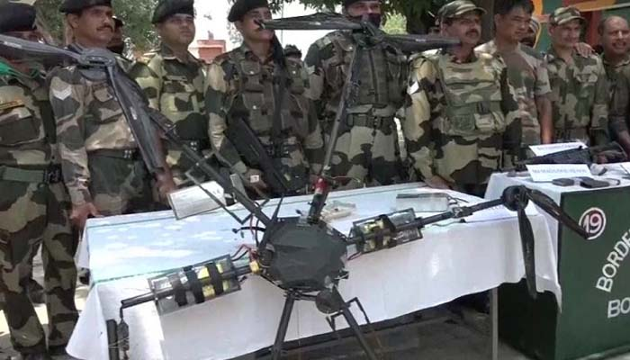 Pakistan sending weapons from drone