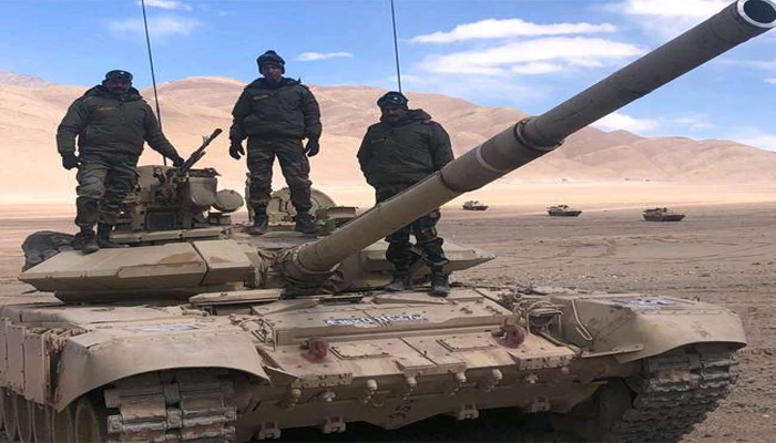 T-90 and T-72 tanks