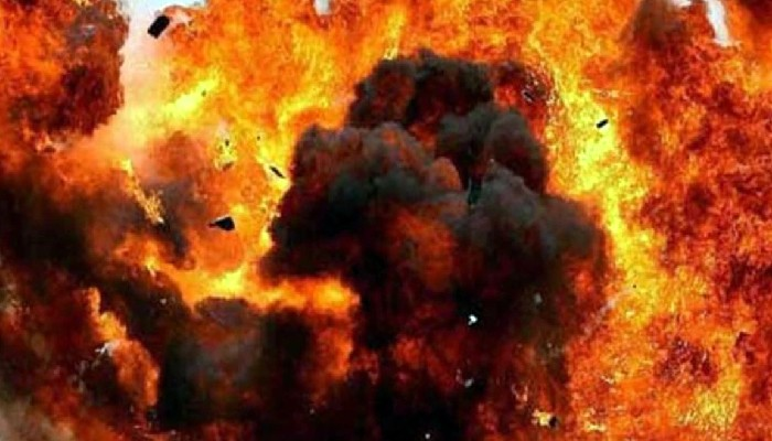 blast in Aligarh police station fire catch crackers seized from diwali
