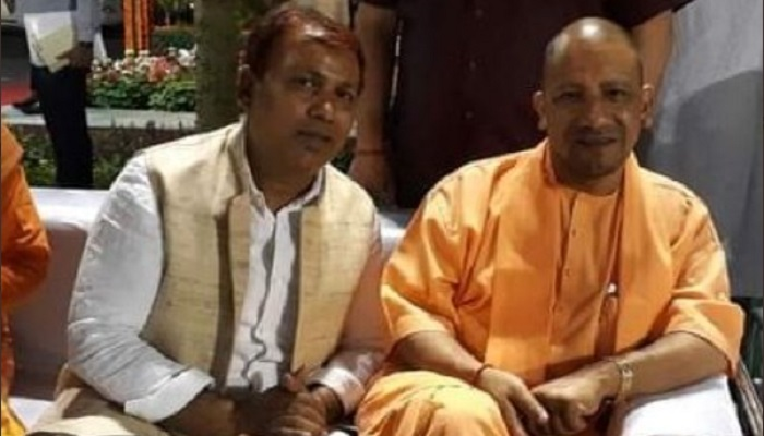 BJP MLA Mukesh Varma with CM yogi