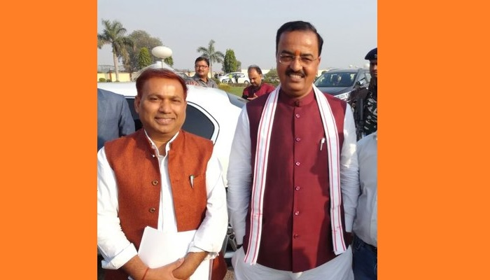 BJP MLA Mukesh Varma with Keshav Maurya
