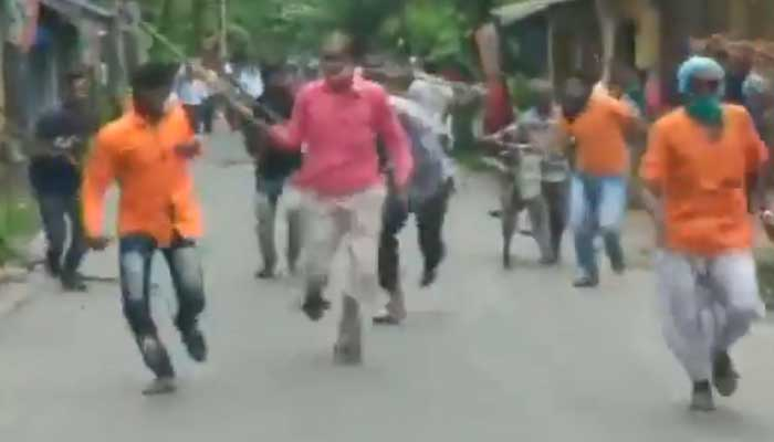 BJP workers attacked by TMC workers