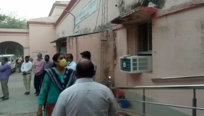 Raebareli DM Vaibhav Srivastava office caught fire burn govt property
