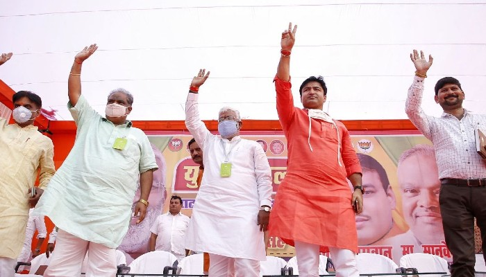 UP BJP Chief Swatantra Dev Singh attend Ghatampur Assembly bypoll campaign'