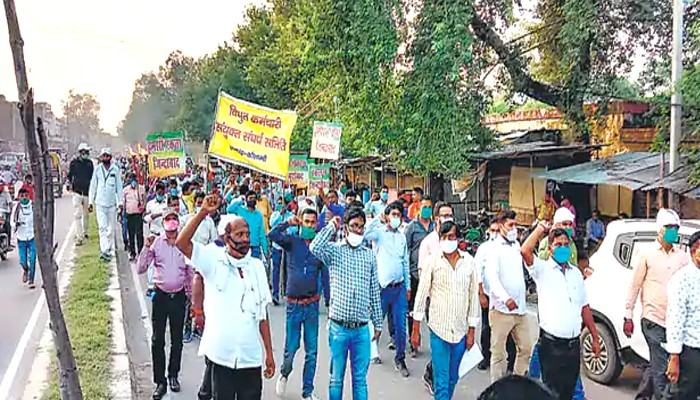 UP power employees go on Indefinite strike against UPPCL privatization