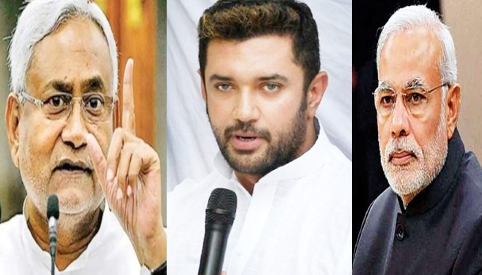 bihar assembly election 2020 LJP chirag-paswan go solo poster war nitish kumar