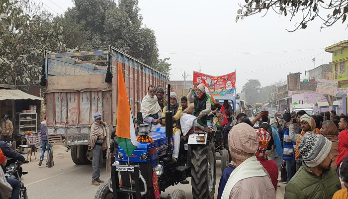 Tractor rally in Ballia