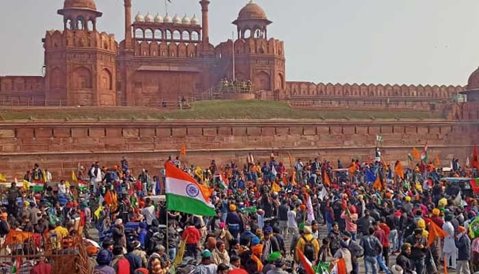 kisan protest on red fort