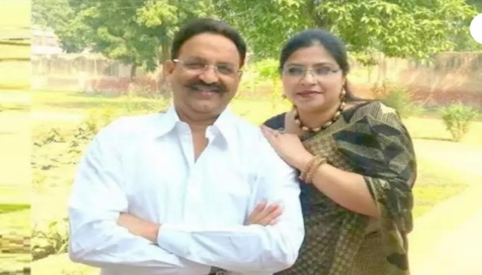 mukhtar-ansari and his wife