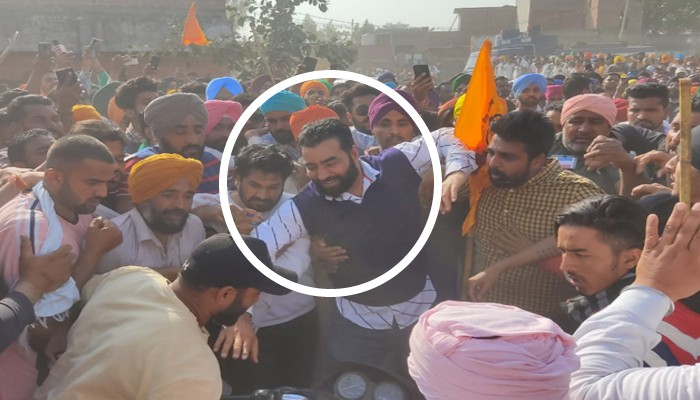 Delhi Violence Case Wanted Gangster Lakha Sidhana Join Farmers Rally in Punjab Challenge Police