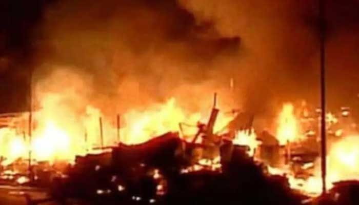 FIRE IN TIMBER MARKET